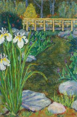 Brookside Iris_Pastel on Paper_17 x 11.5