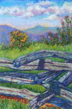 Wintergreen Overlook_Pastel on Paper_17 x 11.5