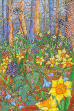 Spring Rally_Pastel on Paper_17 x 11.5
