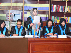 محکمه تمثیلی توسط پوهنځی حقوق وعلوم سیاسی برگزار گردید.