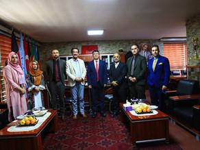 رئیس اجرائیوی بانک اسلامی افغانستان با هیأت رهبری پوهنتون دنیا ملاقات نمود