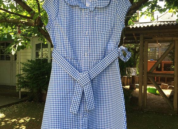 4-5 years Girls Light Blue Gingham School Dress