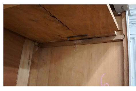 Inserting shelving French wardrobe