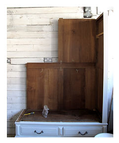 Assembling a French antique wardrobe