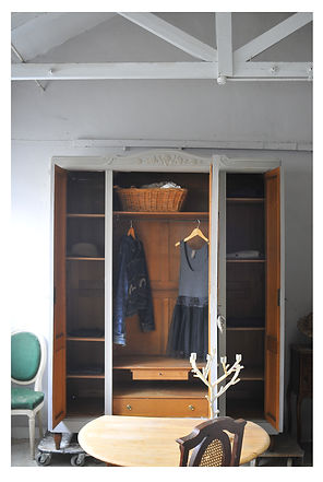 Interior of French wardrobe