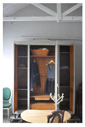 Interior of French wardrobe