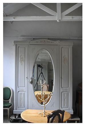 Three door French wardrobe