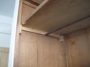 Interior hanging rail of French wardrobe