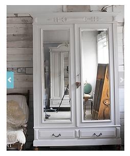 French antique wardrobe