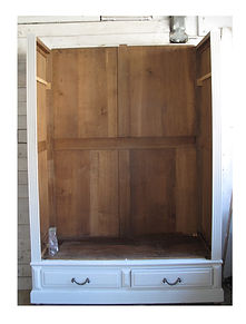 Assembly of French antique wardrob