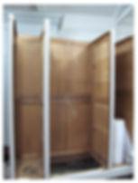 Interior of French Louis XV wardrobe