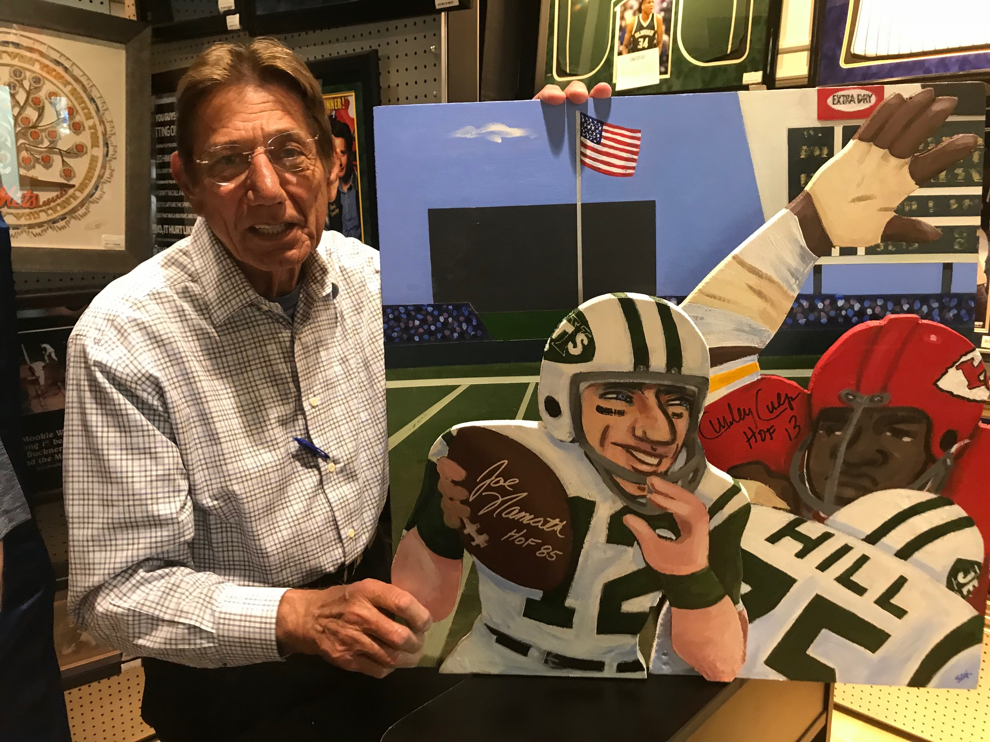 Namath with painting