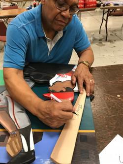 Perez signing painting