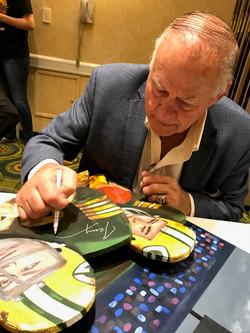 Jerry Kramer signing painting