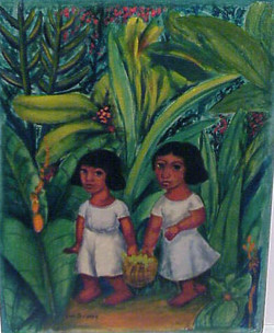 Two Mexican Girls in Forest