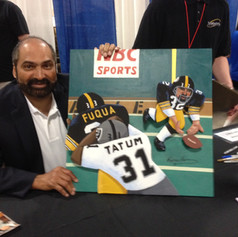 Franco Harris with painting