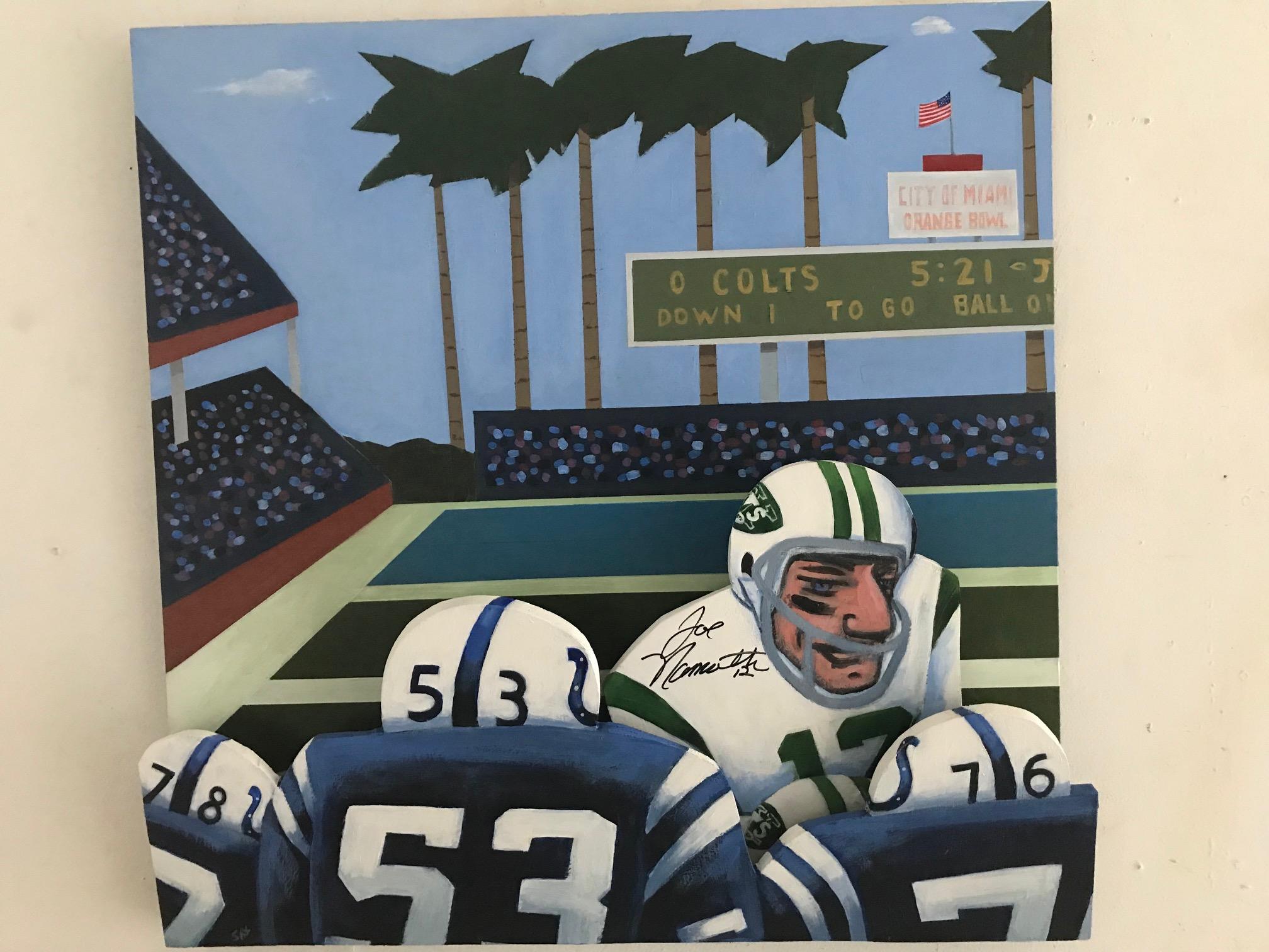 Joe Namath painting