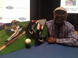 Mookie Wilson with painting