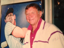 Mickey Mantle with painting