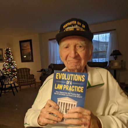 My lawyer friend John Presnick, a 95 year old WWII Veteran