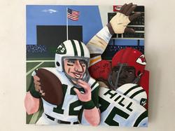 Joe Namath Curly Culp painting