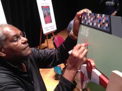Bob Gibson signing painting
