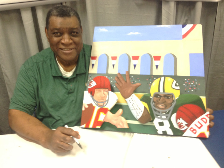 Dave Robinson with painting