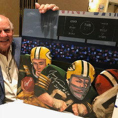Jerry Kramer with painting