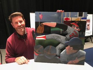 Jim Palmer with painting
