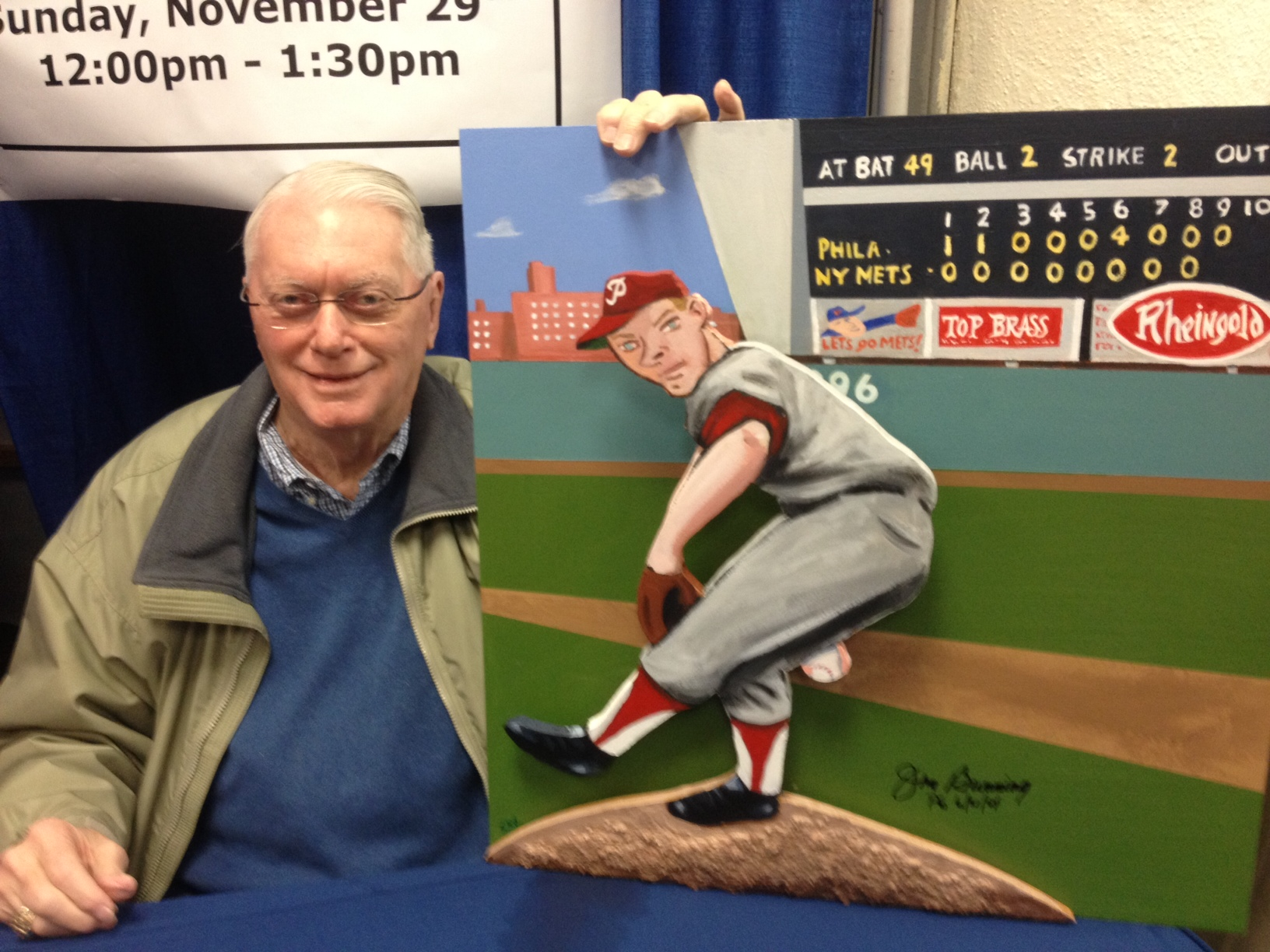 Jim Bunning with painting