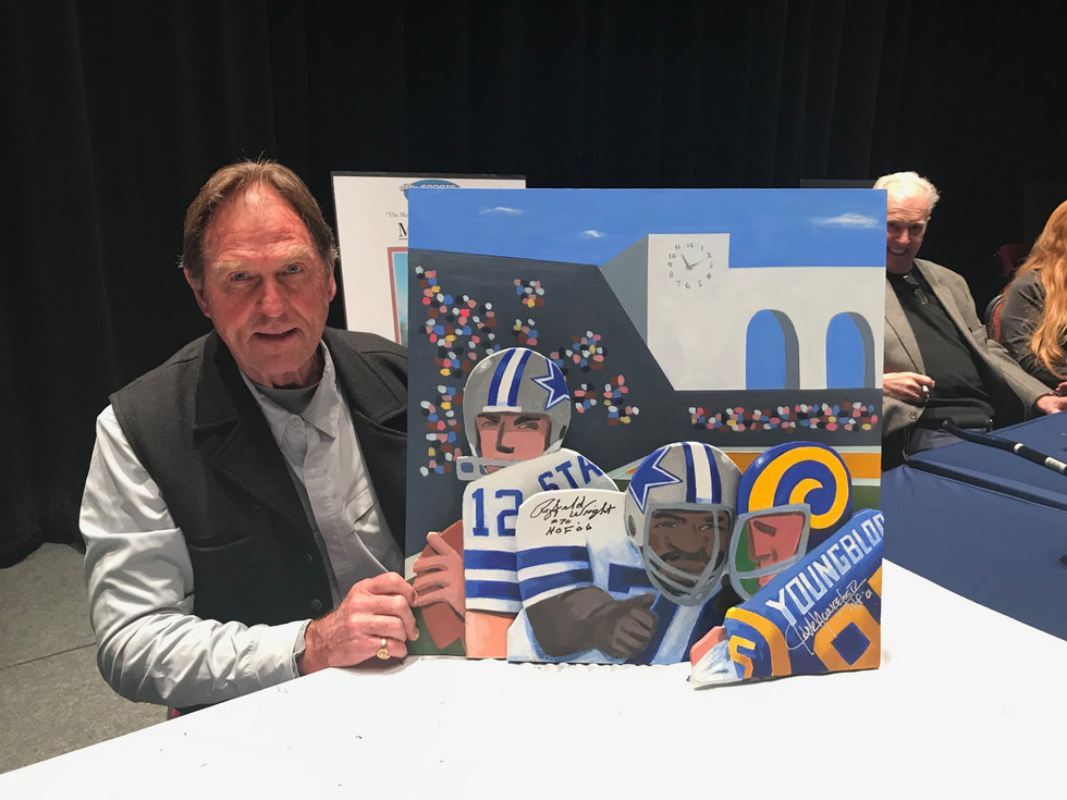 Jack Youngblood with painting
