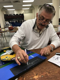 Rollie Fingers signing painting