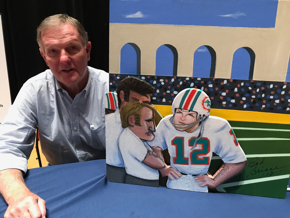 Bob Griese with painting