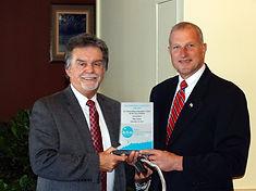 Patrick Carey Receives Award from Mayor Mark A. Lauretti