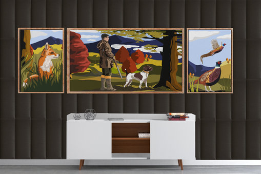 Hunting Scene Wall - Concept Art