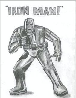 Vintage Iron Man - Pencil