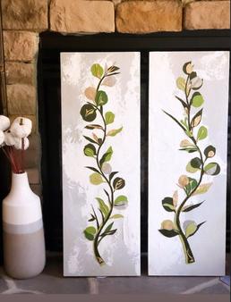Eucalyptus Leaves Textile Art