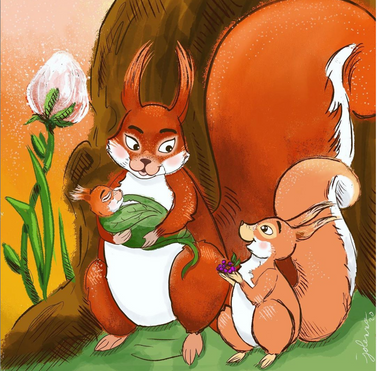 Big Sister Red Squirrel