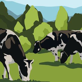 Cow Herd Textile Concept Art