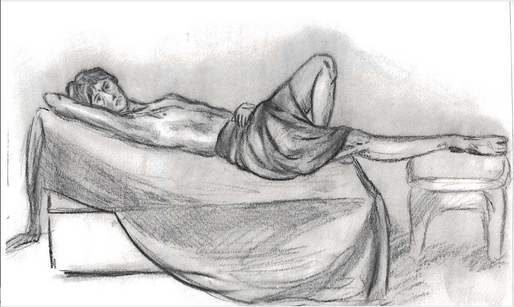 Figure Drawing Class - Pencil & Charcoal