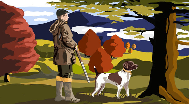 Hunting Scene Concept Art