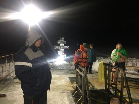 В г. Новокузнецке л/с ОКБ Георгиевский организовывали безопасность на Крещении.