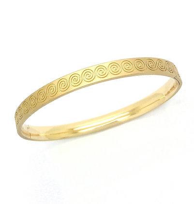 Spirale Bracelet / Bangle fermé en or 18k