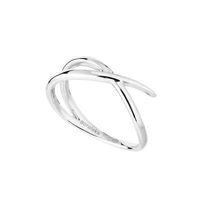 Duality Bague / Alliance Petit modèle en or 18k