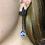 Thumbnail: Miscible Boucles d'oreilles en or noir 18k serties de saphirs bleus et diamants