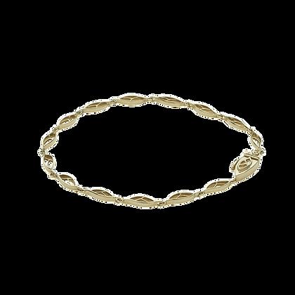 Olivier Bracelet / rallonge collier Petites feuilles en or 18k