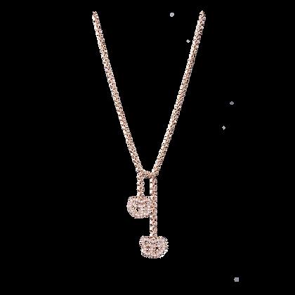Empreinte Collier écharpe en or 18k serti de diamants