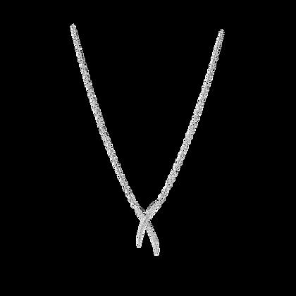 Duality Collier Petit modèle en or 18k serti de diamants