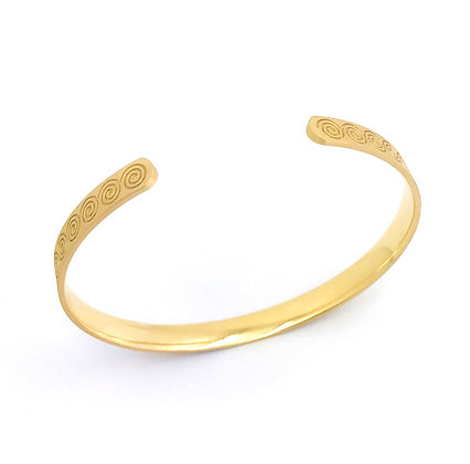 Spirale Bracelet / Bangle ouvert en or 18k