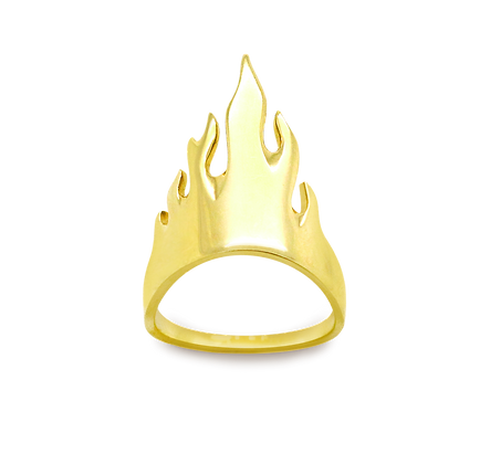 Flamme Bague en or 18k